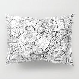 Kuala Lumpur Map White Pillow Sham