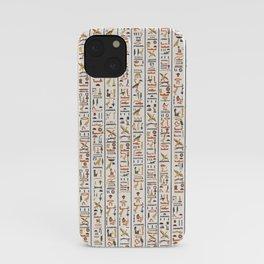 hieroglyphs pattern iPhone Case