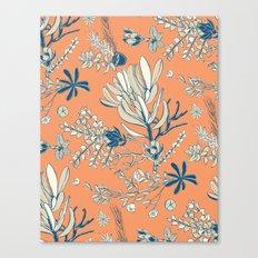 Orange Cradle Flora Canvas Print