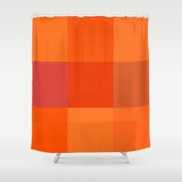 Orange palette Shower Curtain