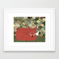 mr fox Framed Art Prints featuring Mr. Fox by Elephant Trunk Studio