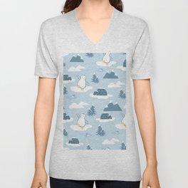 Penguin pattern design Unisex V-Neck