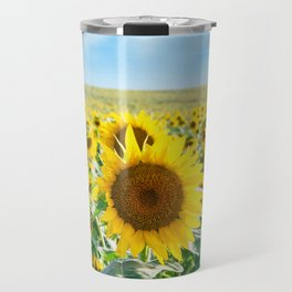 Sunflower Field Travel Mug