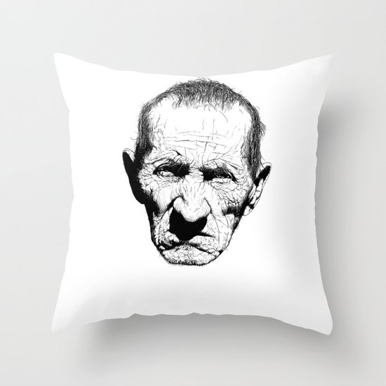 Mr. Grumpy Throw Pillow