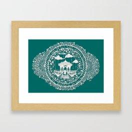 Seaside Bandstand Hand-Cut Papercut Framed Art Print