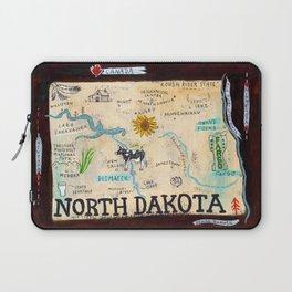 NORTH DAKOTA map Laptop Sleeve