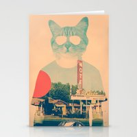 ali Stationery Cards featuring Cool Cat by Ali GULEC