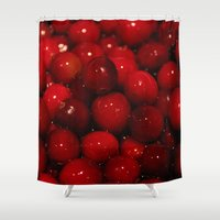 cooking Shower Curtains featuring Photo of Cooking Cranberries by Griffing Designs, LLC