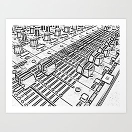Mixer Art Print