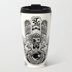 Hamsa Hand Pug Metal Travel Mug