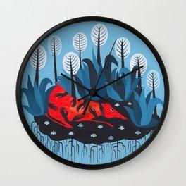 Smug red horse 3. Wall Clock