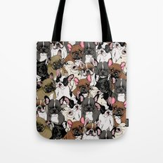 Social Frenchies Tote Bag