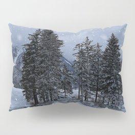 Trees At The Frozen Lago del Predil Pillow Sham