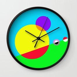 Circles #1 Abstract Modern Painting by Bruce Gray Wall Clock