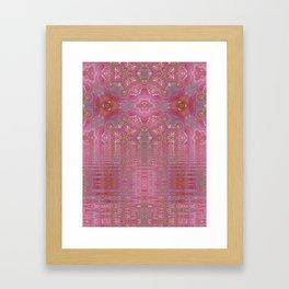 Rippling Pink Framed Art Print