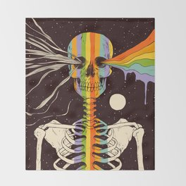 Dark Side of Existence Throw Blanket