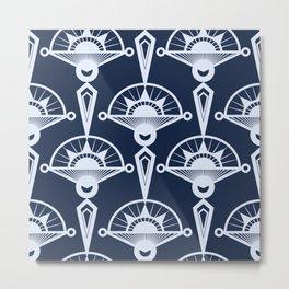 Blue art Deco . Metal Print