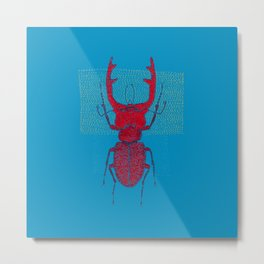 Stitches: Red stag Metal Print