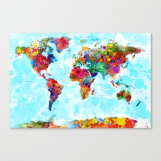 World Map - 2 Canvas Print