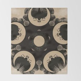 Ouija Wheel of the Moon - Beyond the Veil Throw Blanket