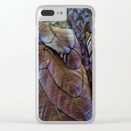 Raven Feathers II Clear iPhone Case
