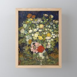 Bouquet of Flowers in a Vase by Vincent van Gogh, 1890 Framed Mini Art Print