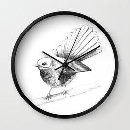 New Zealand Fantail Wall Clock