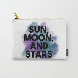 Sun, moon, and stars with watercolor background Carry-All Pouch