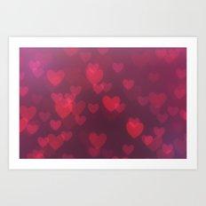 Neon Valentine Art Print
