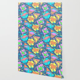 Nineties Dinosaur Pattern Wallpaper