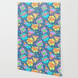 Nineties Dinosaur Pattern Wallpaper