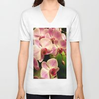 orchid V-neck T-shirts featuring orchid by Bitifoto