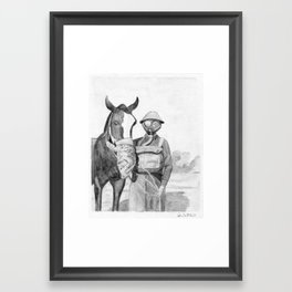 Gas Masks Framed Art Print
