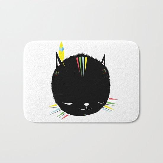 MIGHTY TIGARRR, BLACK KITTEN 묘 Bath Mat
