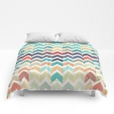 Watercolor Chevron Pattern Comforters
