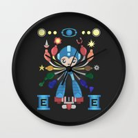 megaman Wall Clocks featuring MegaMan Shrine by MattBlanksArt