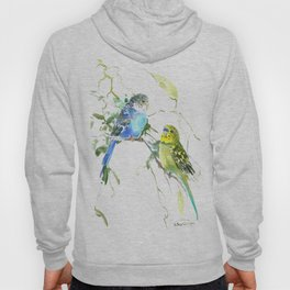 Parakeets, budgies pet bird home decor Hoody