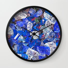 Blue On The Rocks Wall Clock