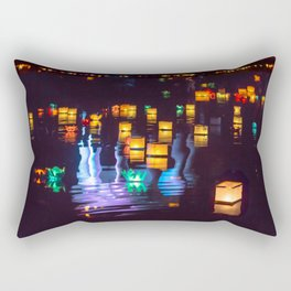 Festival of water lights Rectangular Pillow