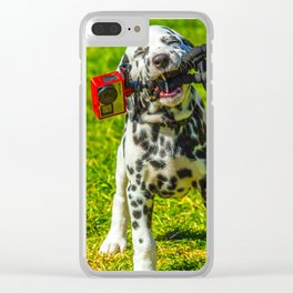 Puppy Dalmatian stealing Gopro Clear iPhone Case
