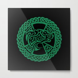 Celtic Nature Polar Bear Metal Print