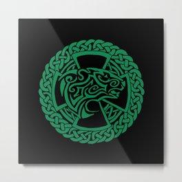 Celtic Nature Polar Bear Metal Print