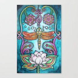 Enlightened Dragonfly Canvas Print
