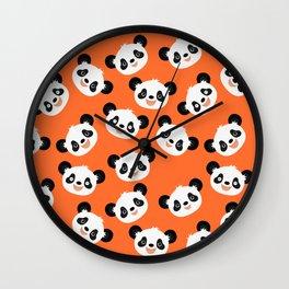 Happy Pandas Wall Clock