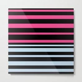 Striped blue-pink Metal Print