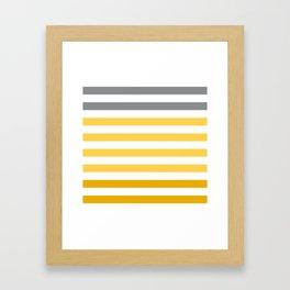 Stripes Gradient - Yellow Framed Art Print