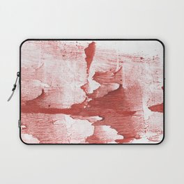 Indian red colored watercolor Laptop Sleeve