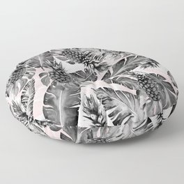 Leaves and pineapples pattern Floor Pillow
