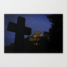Stirling Castle with Grave in foreground Canvas Print
