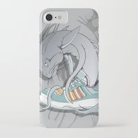 sneaker iPhone & iPod Cases featuring Sneaker Monster by Hexstatic